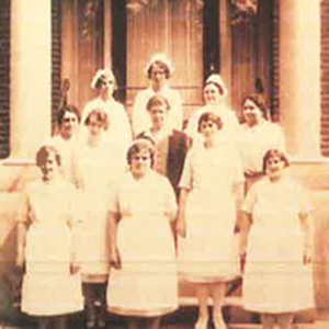 1800s photo of nurses at Health Center