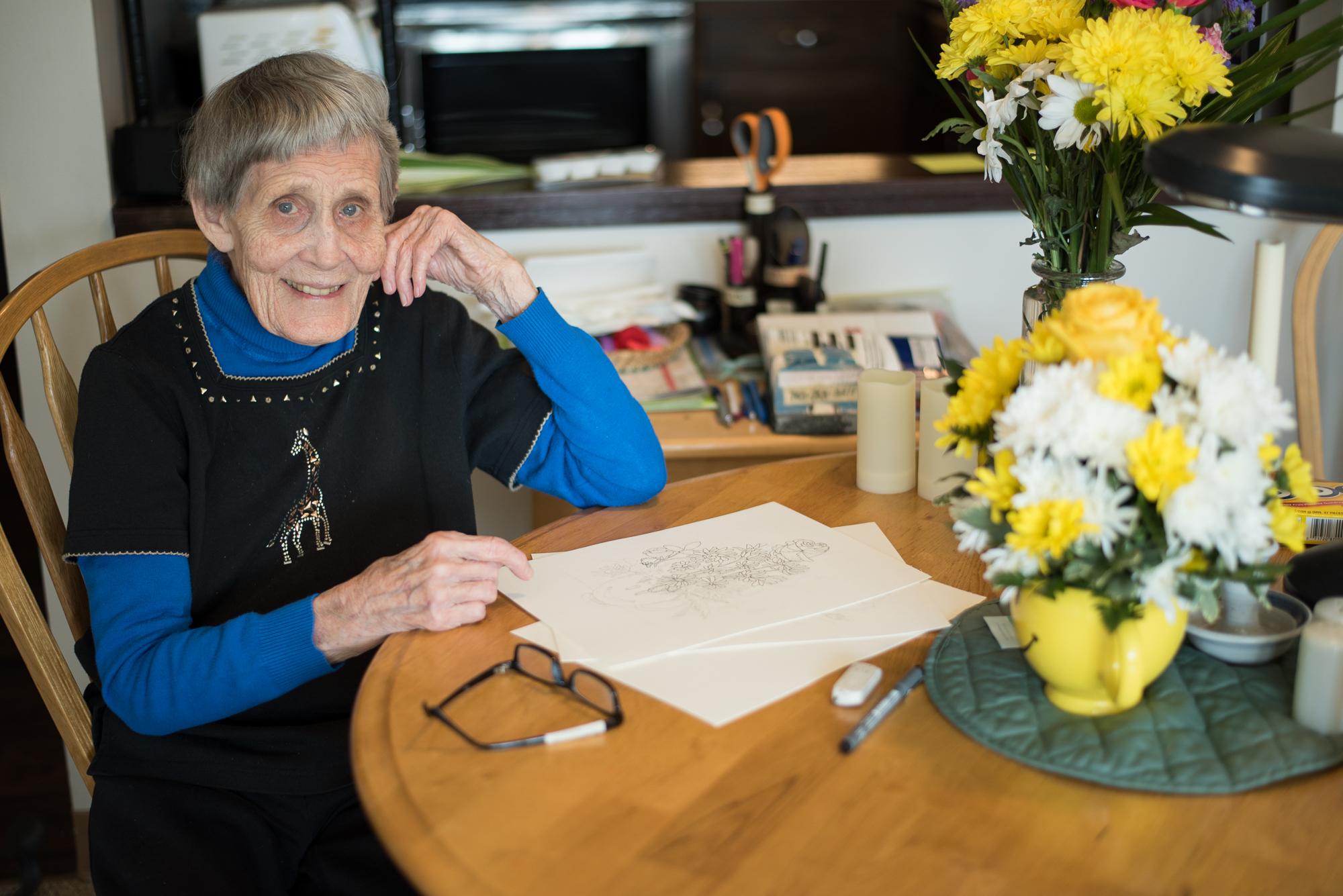 Meet Winnie Conger, 94-year-old artist