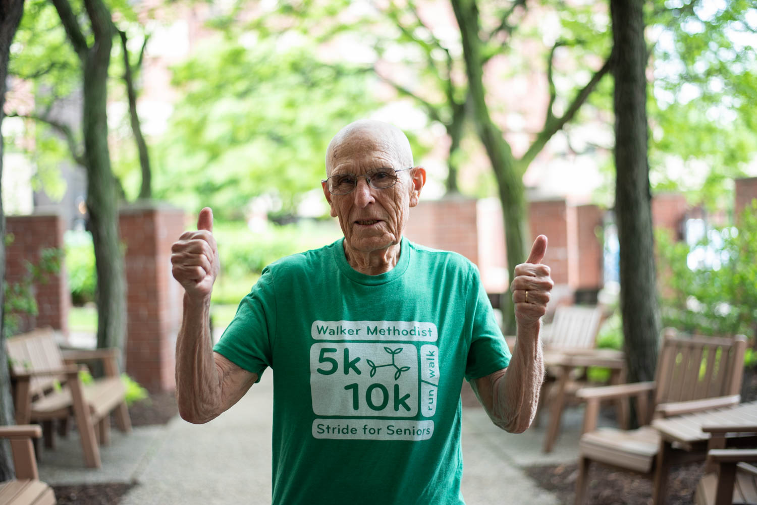 Resident Orin runs to support his community