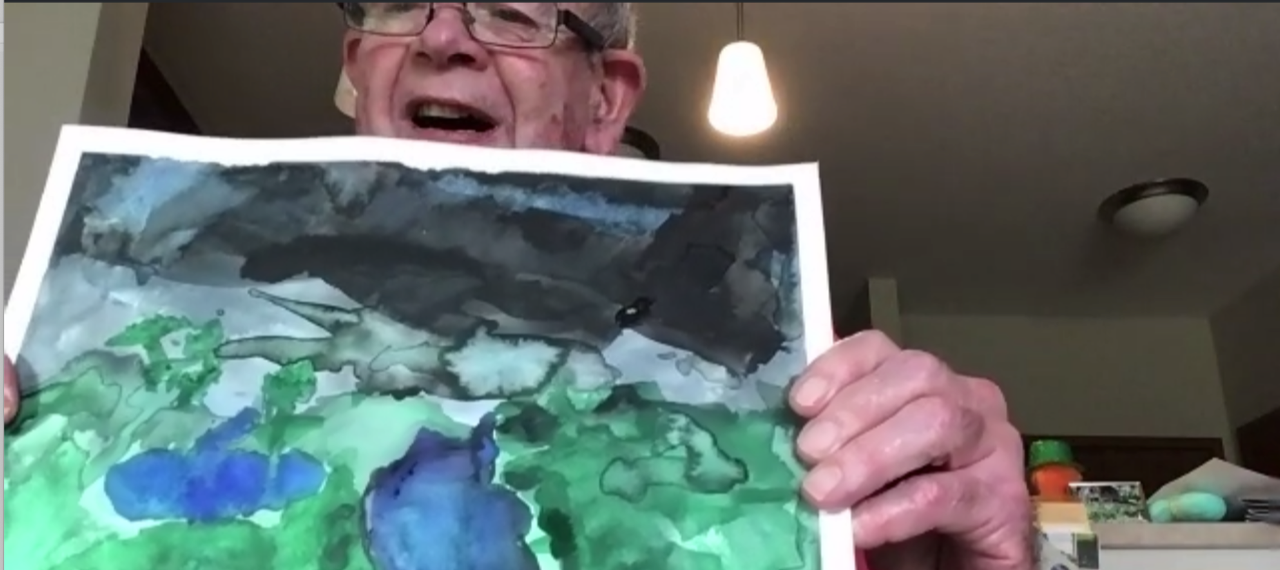 Healthy Aging Month: Residents learn watercolor techniques virtually